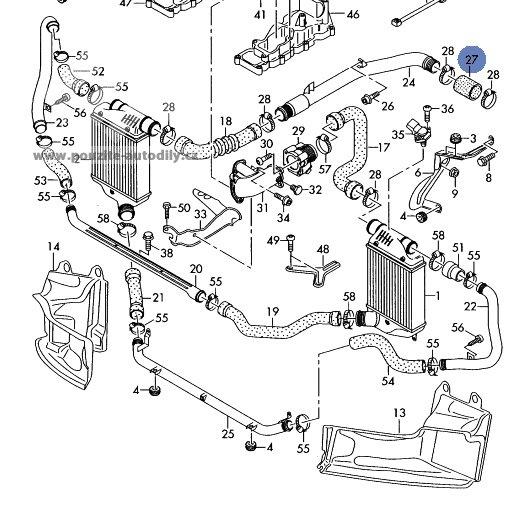 Hadice Tlakov Veden Vzduchu 059145834d Audi A6 C6