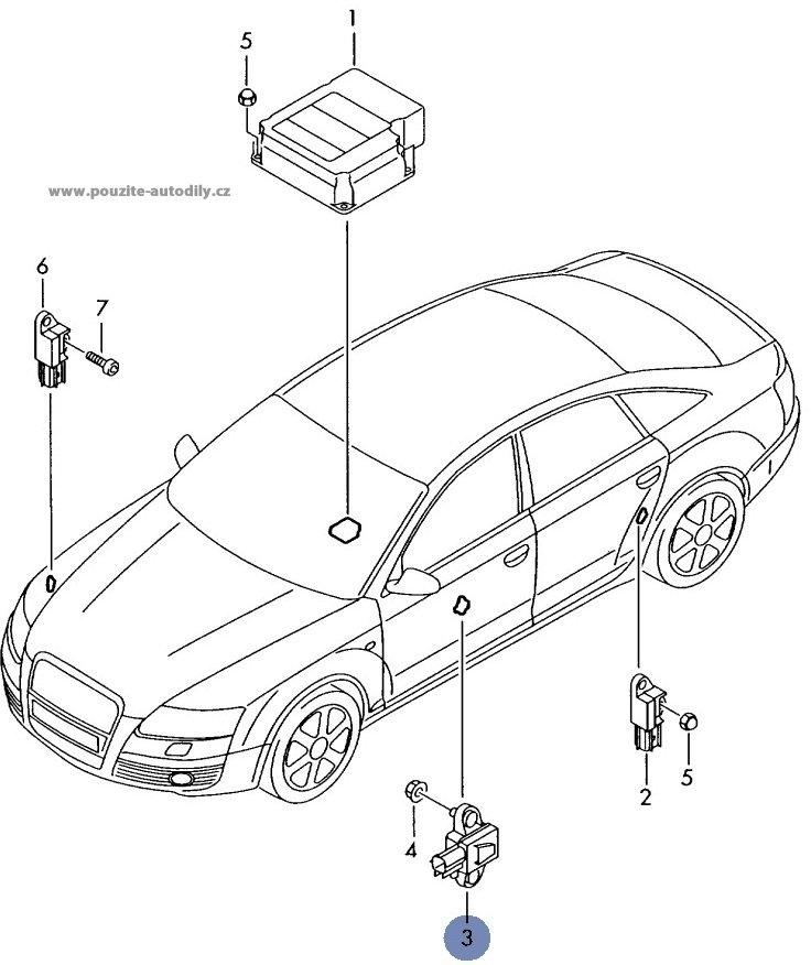 Nrazov Senzor Airbagu Audi A6 4f 4f0955557 4f0955557a